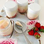 recette Yaourts à la compotée de fraises