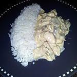 recette Emincés de poulet aux champignons sauce à la créme moutardé