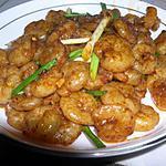 recette Grosses crevettes sautées à l'ail et au piment