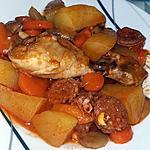 recette Ragoût de poulet au chorizo