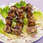 recette Brochettes de filet de porc aux mirabelles