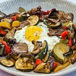 recette Oeufs et légumes d'été rotis