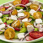 recette Salade de fèves, radis, fêta et menthe