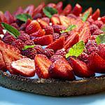 recette Tarte aux fraises sans gluten et sans lactose