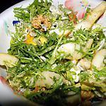recette Salade avec poires, noix et roquefort
