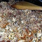 recette Poêlée de boulgour a la dinde, chorizo et champignons de Paris