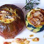 recette Courgette et tomate farcie au chèvre
