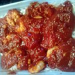 recette scampi sauce tomate coriande