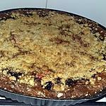 recette Tarte crumble a la myrtille et aux pralines