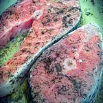recette Darnes de saumon marinées à l'aneth à la plancha
