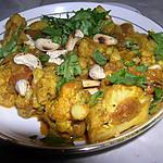recette Chou-fleur aux noix de cajou (plat indien)