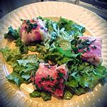 recette Salade aux involtinis de chèvre