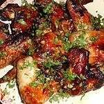recette Ailes de poulet au gingembre,poireaux et au miel