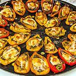 recette Mini poivrons farcis aux sardines et à la scamorza