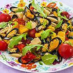 recette Salade de pâtes aux poivrons et aux moules