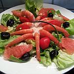 recette Salade de crevettes roses sauce Caesar
