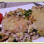 recette Gratin de Courgettes râpées au Jambon
