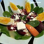 recette Salade de Pourpier, betterave rouge et feta, sauce vinaigrette à l'orange