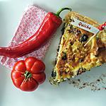 recette Quiche aux Légumes : Champignons, Tomates, Courgette et Lard Recette avec le Thermomix