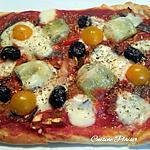 recette Pizza épaisse aux légumes et anchois