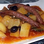 recette Ragoût de merguez pommes de terres courgettes