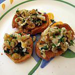 recette Tartines de couteaux de Camaret