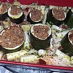 recette Courgettes farcies au riz au four
