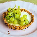 recette Tarte à la panna cotta et aux raisins frais