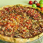 recette Tarte aux tomates, pesto et pécorino