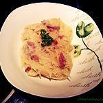 recette Courge spaghetti à la carbonara