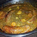 recette Ragoût de lentilles au saucisses de toulouse et lard