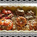 recette Tomates du Jardin Farcies (Recette Rouvillaise de Mémé Henriette)