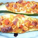 recette Courgettes farcies au saumon....