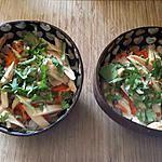 recette Salade chinoise et sa vinaigrette sucrée