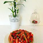 recette Tarte fraise rhubarbe amande de C. Heitzler