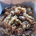 recette Risotto aux oignons frits et champignons