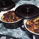 recette Cassolettes de Saint-Jacques au crumble de chorizo