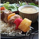 recette Brochettes de volaille sauce ananas