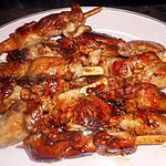 recette Brochettes d aiguillette de poulet caramélisées