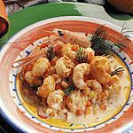 recette queues de langoustines flambées