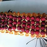 recette Tarte framboises et mousse de pistache