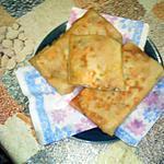 recette Bourek bonois:feuilles de brik farci
