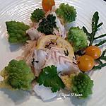recette Papillotes de Cabillaud à la Choucroute et Romanesco