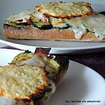 recette Bruschettas gourmandes et chips de fromage