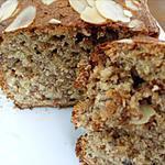 recette Cake Bananes, Fruits secs et fève tonka