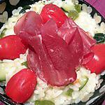 recette Risotto courgette poivron parmesan et sa charcuterie italienne
