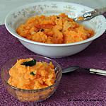 recette Écrasé de carottes et pommes de terre au lait de coco