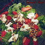 recette Salade épinards, fraises et chèvre