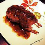 recette Cailles caramélisées aux échalotes