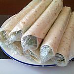 recette Wraps jambon & kiri
